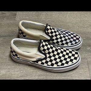 Vans slip on black & white checkered